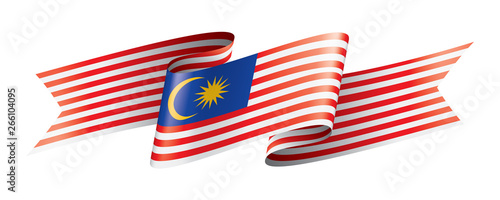Malaysia flag, vector illustration on a white background. Canvas Print