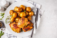 Grilled Chicken And Baked Pota...