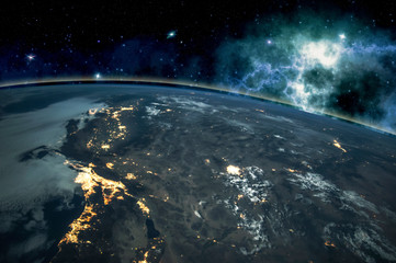 Picture of Earth in space, ...