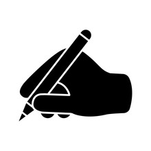 Writing Hand Glyph Icon