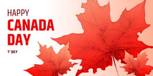 Happy Canada Day Banner. Vecto...
