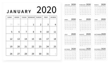 Mockup Simple Calendar Layout ...