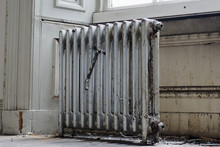 Silver Cast Iron Radiator For Salvage