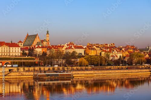 Fototapeta Old Town in City of Warsaw at Sunrise obraz