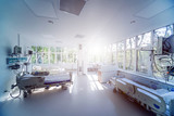 Fototapeta Panels - Interior of reanimation room in modern clinic