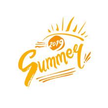 Vector Seasonal Logo. 2019 Sum...