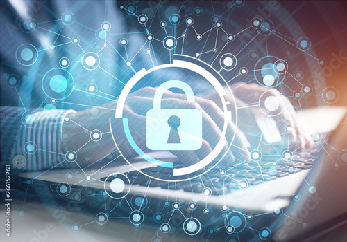 Papiers peints Individuel Digital cybersecurity and network protection