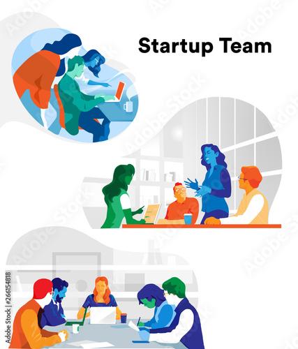 Fototapeta Team azienda e lavoro di squadra obraz