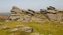 Granite Rock Outcrop At Hound Tor, Dartmoor, Devon, England