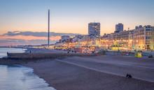 Brighton Beach And Skyline At ...