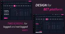 Bet Platform Ui Design. Machine Learning, Artificial Intelligence, Digital Brain And Artificial Thinking Process Concept, Violet Palette. Vector Landing Page Of Betting Platform Website.