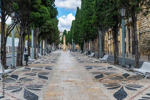Empty street Via de l'Imperi Romà in Tarragona
