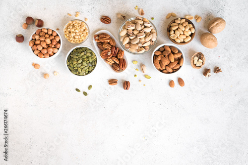 Fotografie, Obraz  Various Nuts in  bowls