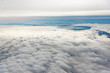 Above the fluffy clouds.