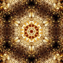 Abstraction Liquid Gold Paintings For Sale, Stock. Creative Design Background In Golden Colors. Art Wall Decor Print. Abstract Fractal Pattern. Contemporary Original Luxury Texture In High Resolution.