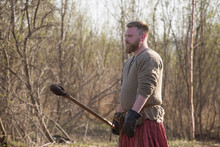 Medieval Slavic Soldier At Tra...