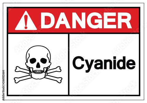 Photo Danger Cyanide Symbol Sign, Vector Illustration, Isolate On White Background Label
