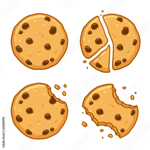 Fotografía Chocolate chip cookie set
