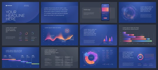 Colorful presentation templates elements. Vector infographics. Use in Presentation, flyer and leaflet, corporate report, marketing, advertising, annual report and banner.