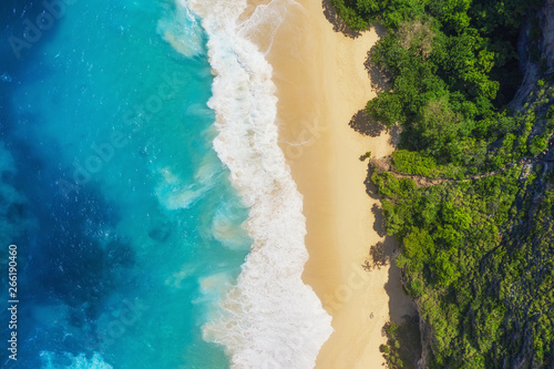 Fotografie, Tablou Aerial view at sea and beach