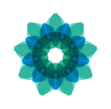 Blue Circular Pattern. Vector Illustration On Isolated Background