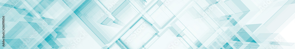 Fototapety, obrazy: Abstract blue architecture 3d rendering