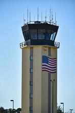 American Flag Air Traffic Control Tower