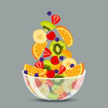 Fresh Fruit Salad In A Transpa...