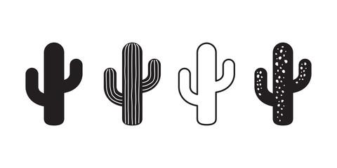 kaktus ikona vektorski logo simbol pustinjski cvijet botanica biljka vrt ljeto tropska ilustracija doodle