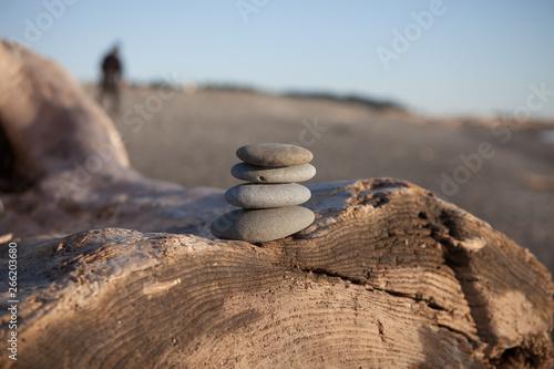Photo sur Plexiglas Zen pierres a sable Pebble Stack