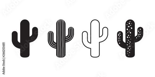 Fototapeta cactus icon vector logo symbol desert flower botanica plant garden summer tropic