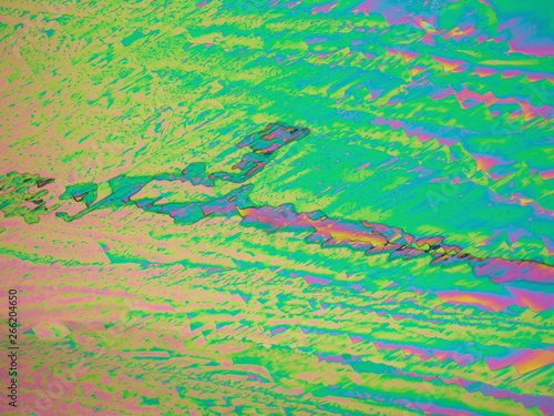 Liquid crystal under polarized light microscope Canvas Print