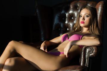 Sensual lingerie beauty.