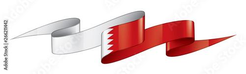 Bahrain flag, vector illustration on a white background Wallpaper Mural