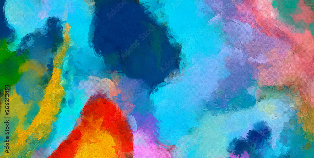 Fototapeta Abstract artistic background pattern for creating creative wall art decor, design card, banners, flyers or textile and fabric prints. Impressionism oil paint drawing. Handmade beautiful texture.