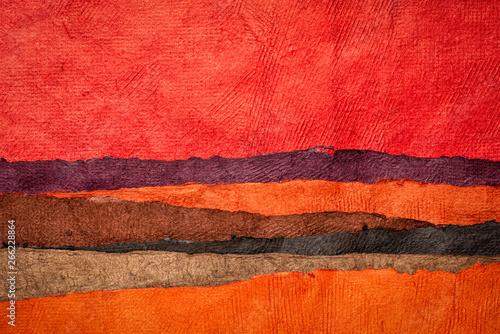 Poster Corail collection of colorful textured paper sheets
