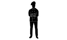 Silhouette Vector Of Male Chefs