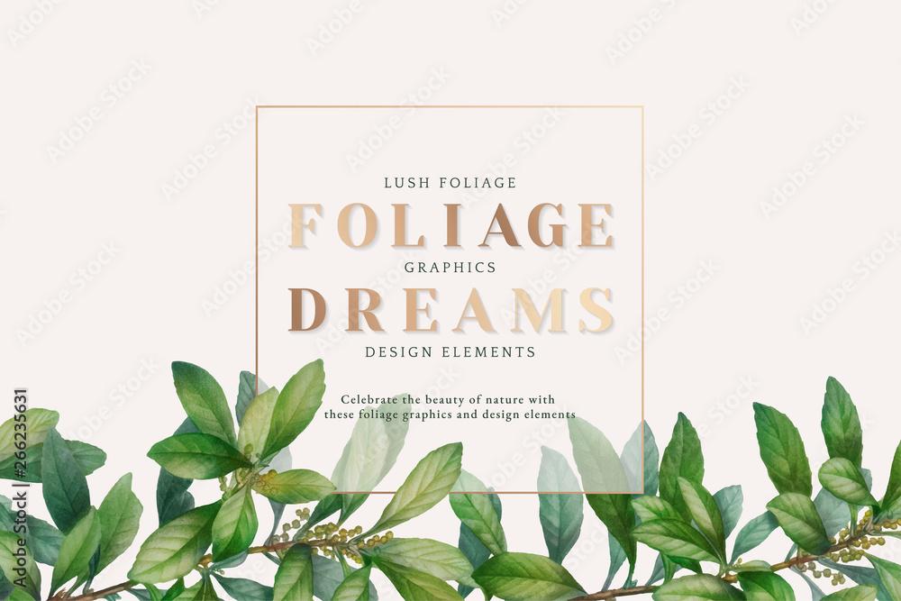 Fototapety, obrazy: Nature foliage wallpaper