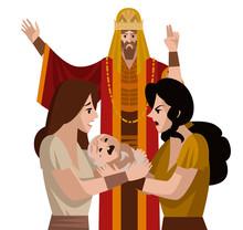 Solomon King And Two Women Dis...