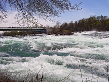 White Water Rapids Of Niagara River Above Niagara Falls