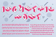 Isometric Font. Geometric Alph...