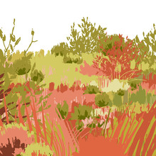 Abstract Graphic Steppe View I...