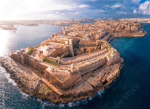 Fotomural Fort St Elmo, Valletta, Malta, aerial view