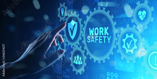 Fotografia Work safety instruction standards law insurance industrial technology and regulation concept