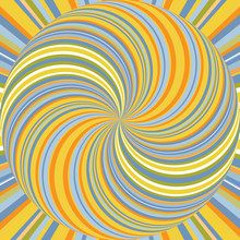 Abstract Yellow Grey Vortex Wh...