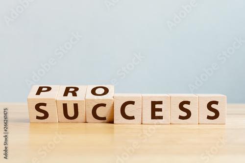 Foto Process for success concept