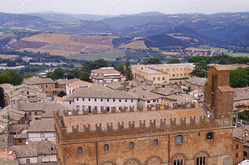 Foto op Canvas India Aerial view of Popolo Palace, Orvieto, Italy
