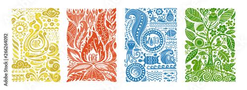 Fotografía Four elements concept. Banners design