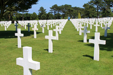 American Military Cemetery In Colleville-sur-Mer (France)