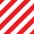 caution board with diagonal stripes for banner